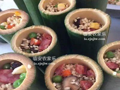 火腿竹筒饭