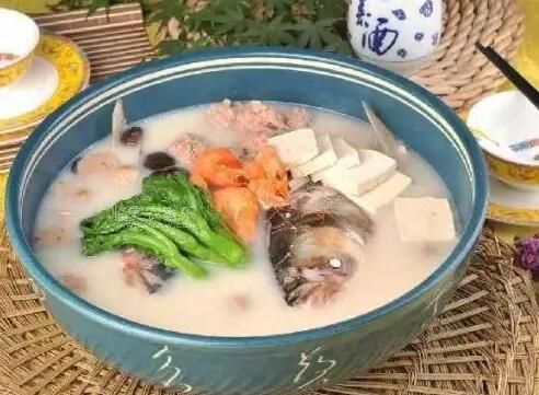 河虾鱼头煲